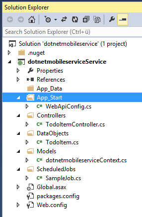 Mobile Service mit .NET