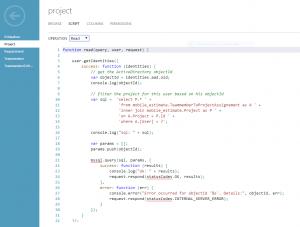 Filtern der Daten nach AAD ObjectId im Read-Table-Script