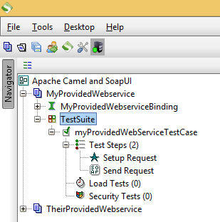 TestCase within a TestSuite in SoapUI.