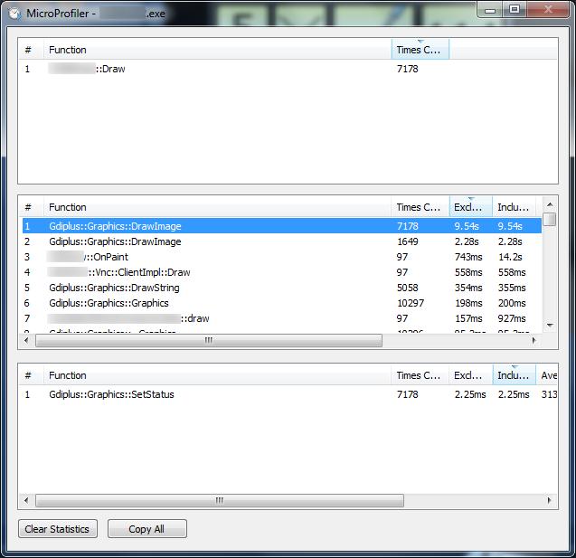 Performance-Analyse mit C++, MicroProfiler und GDI+