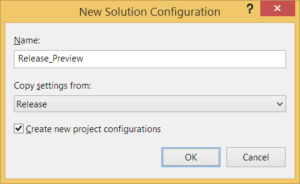 Erstellen der Build Konfiguration