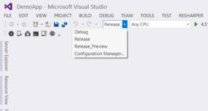 Zusätzliche Build Konfiguration