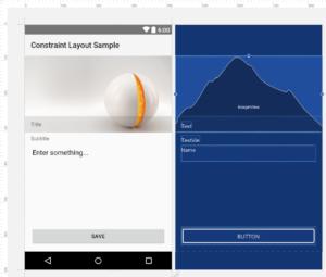 Vorschau im Layout Editor von Android Studio
