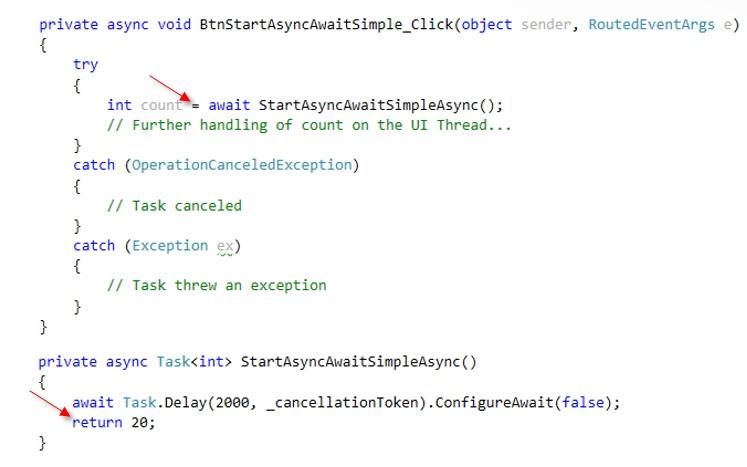 C# Concurrency Blog: Ablauf async\await aus Benutzersicht