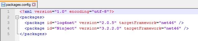 NuGet Paket erstellen in 5 Minuten: packages.config Datei