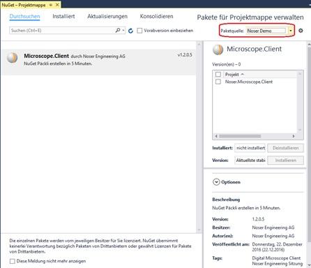 NuGet Paket erstellen in 5 Minuten: NuGet Repository definieren im Visual Studio