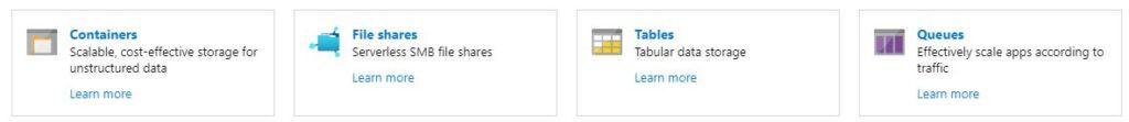 Azure Storage Types